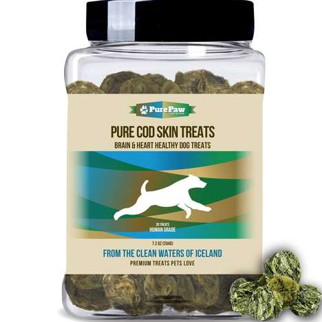Icelandic Cod Skin Treats - Best Paw Nutrition's Pure Cod Skin Treat Disks Boast Healthy Proteins