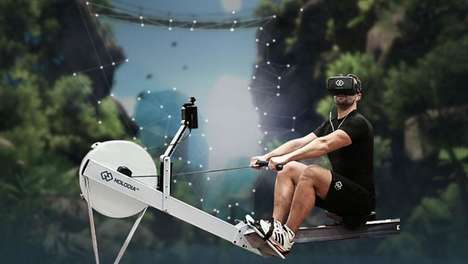 High-Tech Gym Equipment - HOLODIA Introduces Bikes, Rowing Machines and More Equipped with Vr Games