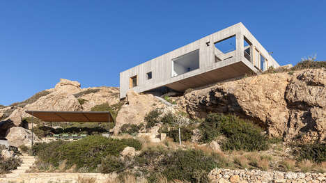 Rectangular Modern Cliffside Houses
