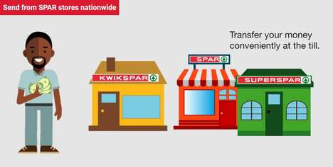 Supermarket Money Transfer Services - SPAR Money Transfers Require a One-Time Registration