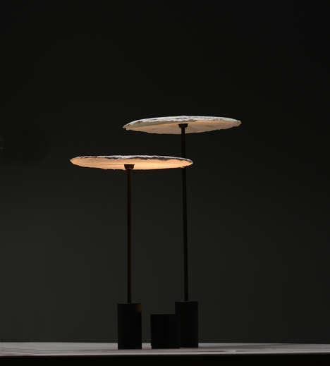 Mushroom Mycelium-Made Lighting Fixtures