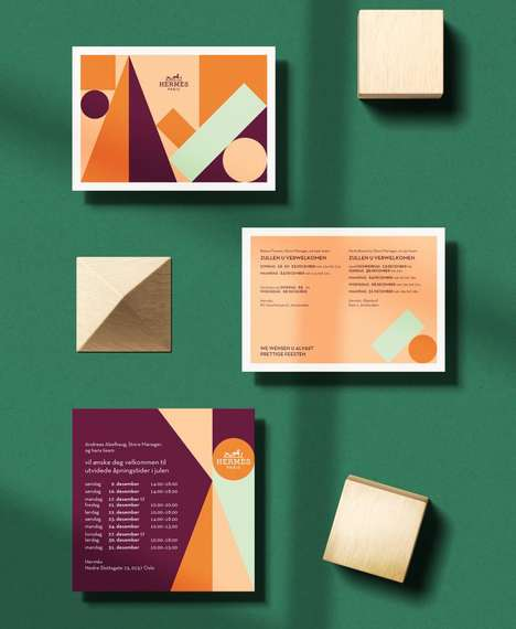 Luxurious Colorful Postcard Designs