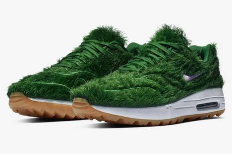 Obscure Turf-Covered Sneakers