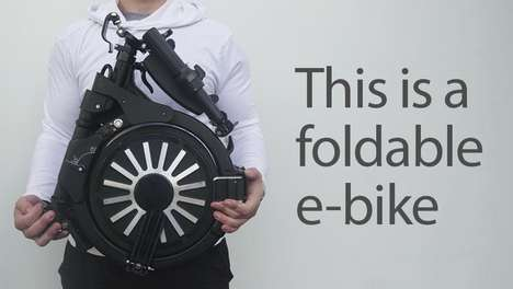 Backpack-Sized Electric Bikes - The 'ORGO' Folding Electric Bike Reaches Speeds of Up to 15mph