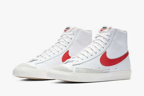 Vintage-Themed High-Top Sneakers - Nike Drops Three Blazer Mid '77 Sneakers With Distressed Accents