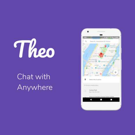 Location-Based Messaging Apps - The 'Theo' Chat App Creates Chatrooms for Public Spaces