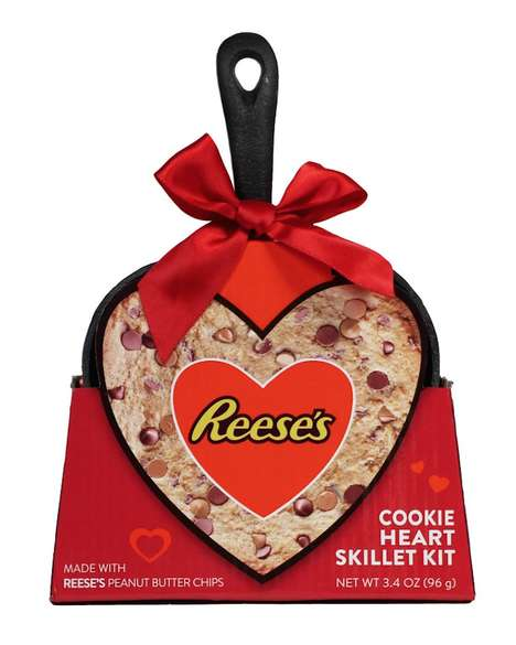 Heart-Shaped Cookie Skillets - The Reese's Cookie Heart Skillet is the Sweetest Valentine's Day Gift
