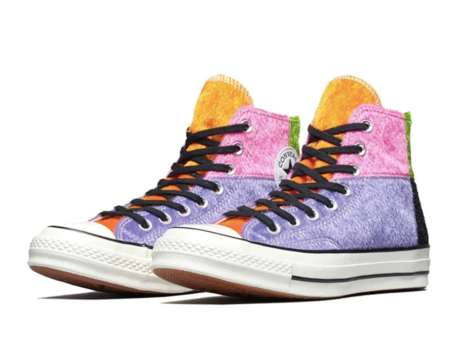 Fuzzy Patchwork Sneakers