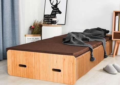 Expandable High-Strength Cardboard Beds