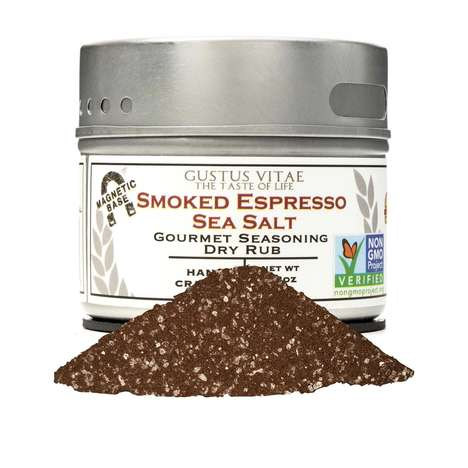 Coffee-Infused Salt Blends - Gustus Vitae's Smoked Espresso Sea Salt Boasts Premium Ingredients