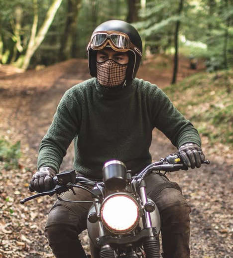 Stylish Cyclist Breathing Masks - The Rare Bird London Pollution Masks Protect Urban Cyclists