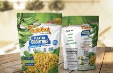 Gluten-Free Plantain Croutons - Plantain Republic's Plantain Squares Add Texture to Salads