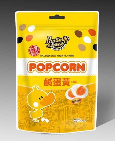 Yolk-Flavored Popcorn Snacks