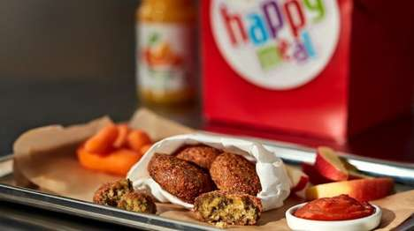 Vegan QSR Kids Meals - The McDonald's Sweden Vegan Happy Meal Comes with Falafels