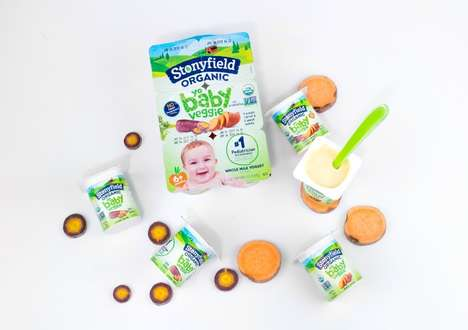 Baby-Friendly Veggie Yogurts