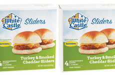 Frozen QSR Turkey Burgers - The White Castle Turkey & Cheddar Sliders will Launch in March 2019