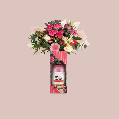 Bouquet-Integrated Gin Boxes