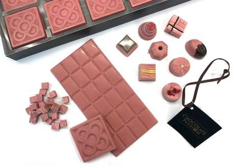 Experimental Pink Chocolates