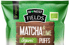 Citrusy Matcha Puffs - Honest Fields' Organic Puffs are Positioned as a Stress-Relieving Snack