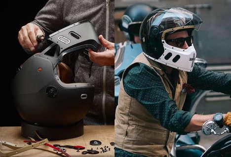 Modular Personalization Motorcycle Helmets