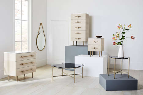 Satin Brass Furniture Collaborations
