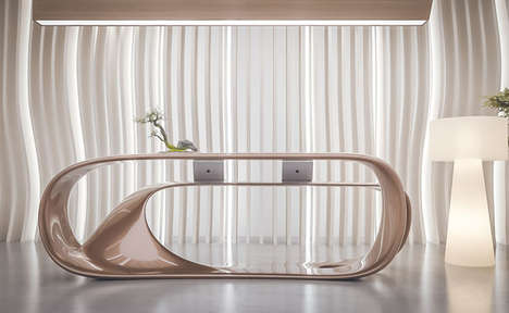 Sculpturally Naturalistic Reception Desks