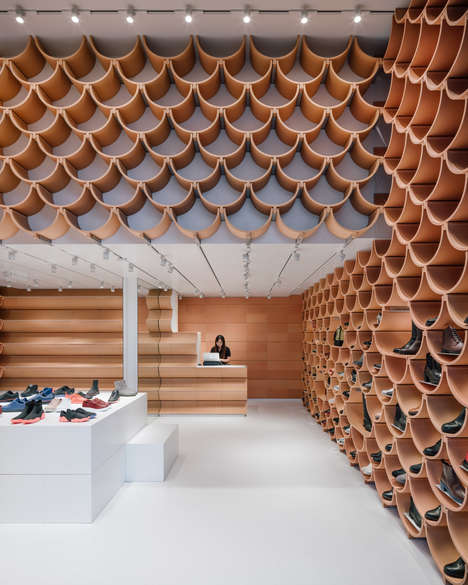 Terracotta-Accented Retail Spaces