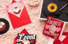 Vinyl Valentine's Day Cards