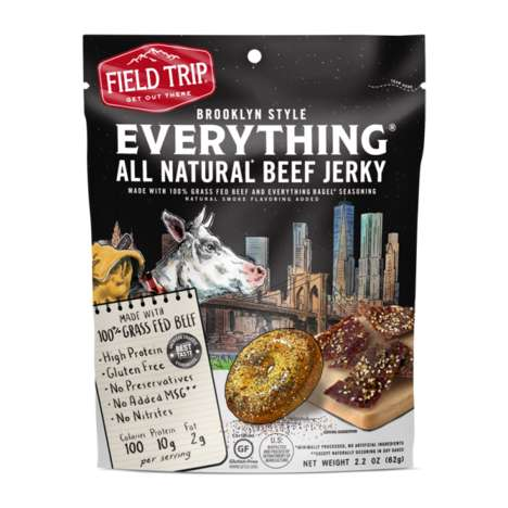 Bagel-Flavored Jerky Snacks