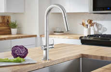 Water-Measuring Kitchen Faucets