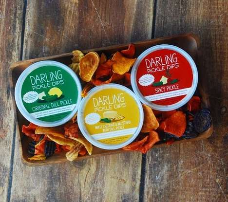Cheesy Pickle Dips