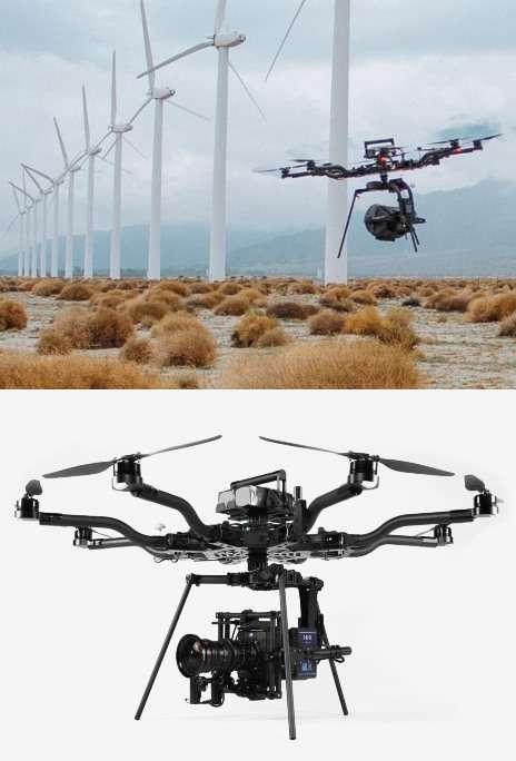 Lightweight Octa-Rotor Drones