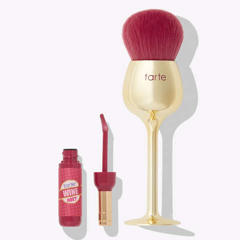Wine-Themed Makeup Sets - Tarte Cosmetics' Lip Gloss Sets Have Wine Glass-Shaped Makeup Brushes