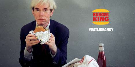 Pop Art-Inspired Burger Ads