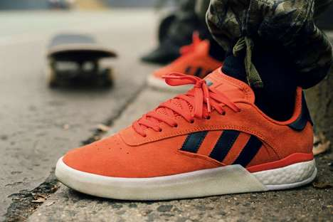 Statement-Making Orange Skate Shoes