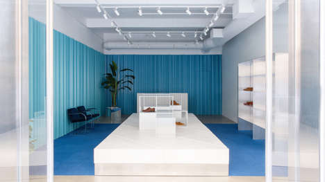 Blue-Accented Menswear Flagship Stores