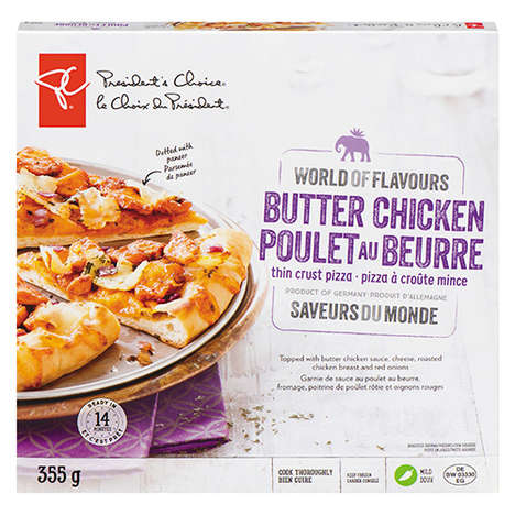 Hybridized Butter Chicken Pizzas