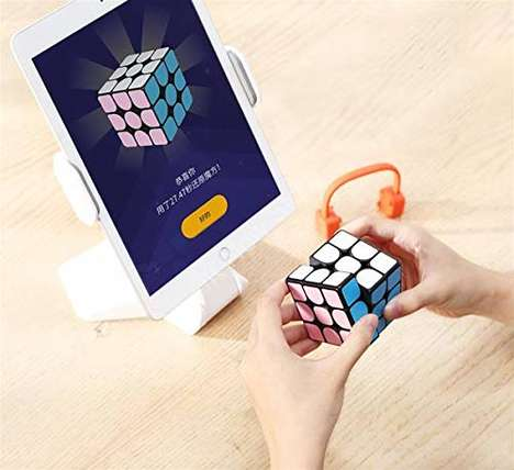 App-Connected Puzzle Cubes