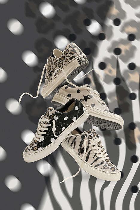 Animal-Print Suede Sneakers