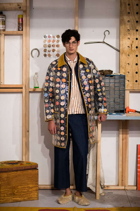 Boho Avant-Garde Fashion Collections - BODE Boasts Chic Coats Lined with Pennies and Milk Caps