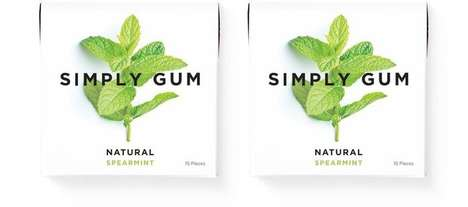 Biodegradable Chewing Gums - The Simply Gum Natural Spearmint is Free from Artificial Ingredients