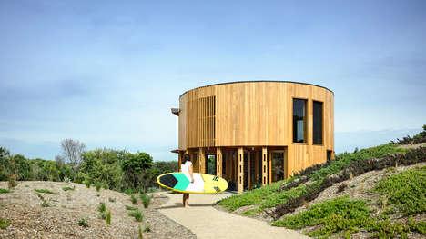 Beach-Ready Timber Cylindrical Houses