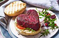 Heart-Shaped Beetroot Burgers
