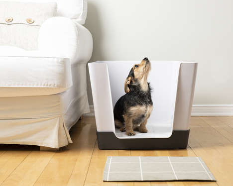 Compact Canine Toilets - The Doggy Bathroom Accommodates Small Male and Female Dogs