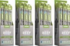 Piquant Meat Snack Sticks - The CHOMPS Spicy Jalapeño Flavor Beef Jerky Sticks are Satisfying