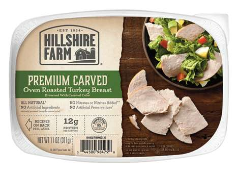 All-Natural Turkey Deli Snacks - Hillshire Farms' Oven Roasted Turkey Breast is Preservative-Free