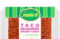 Turkey-Infused Taco Meat Mixes - Jennie-O's Taco Seasoned Ground Turkey is Lean and All-Natural
