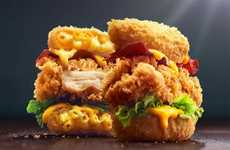 Macaroni Bun Chicken Burgers - KFC Singapore's New Mac 'N Cheese Zinger is Like Two Meals in One