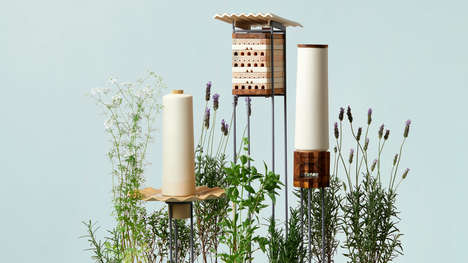 Solitary Bee-Accommodating Objects - MaliArts' Project is Launched to Help Solitary Bees in Cities