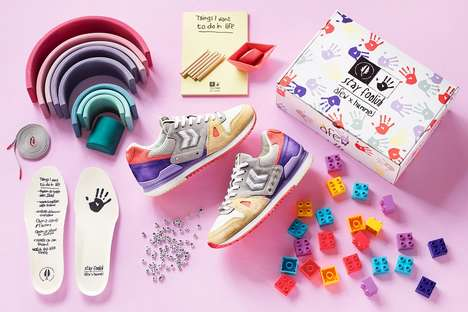 Childhood-Tapping Vibrant Footwear